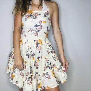 Free People floral circle low back dress